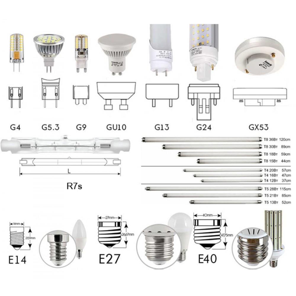 Описание разных видов ламп